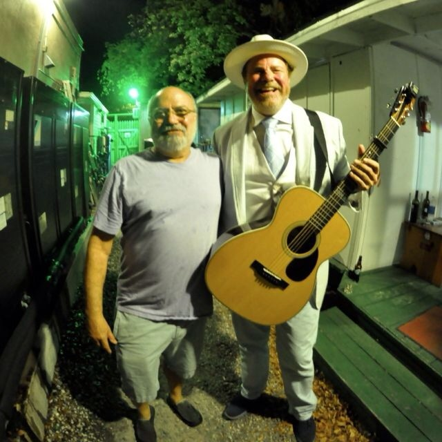 Me and Robert Earl Keen out back.