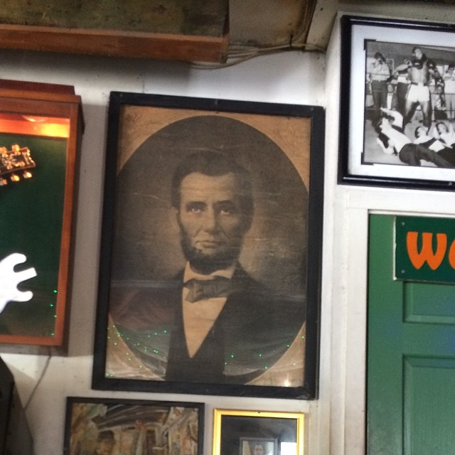 Abe. My homie. #greenparrotbar