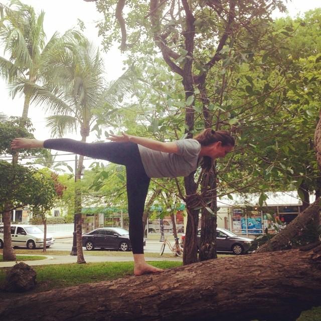 #yogainatree #yogaeverydamnday  #iloveyoga #greenparrotbar #instagood