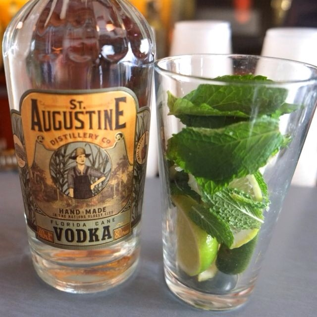 Mojito made with St. Augustine Vodka, hand-crafted from pure Florida cane.