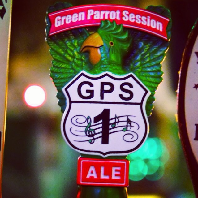 It's official: check out our Green Parrot Session Ale tap handle #greenparrotbar #shipyardbrewingco