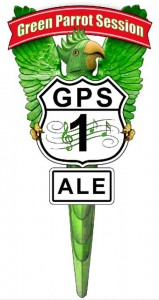 Green Parrot Session Ale tap handle