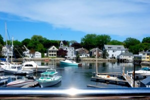 Our first tasting was held overlooking kennebunk harbor