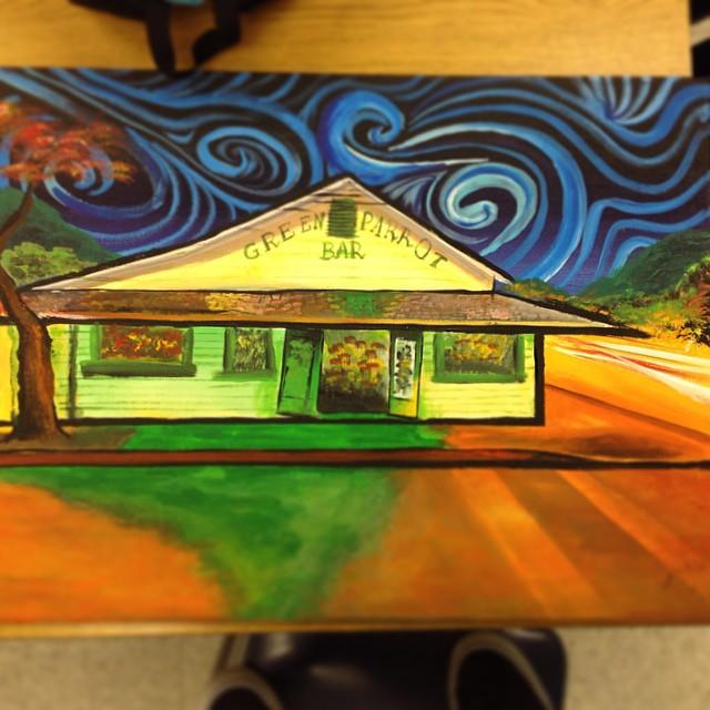 #painting #keywest #greenparrotbar #gregpiro