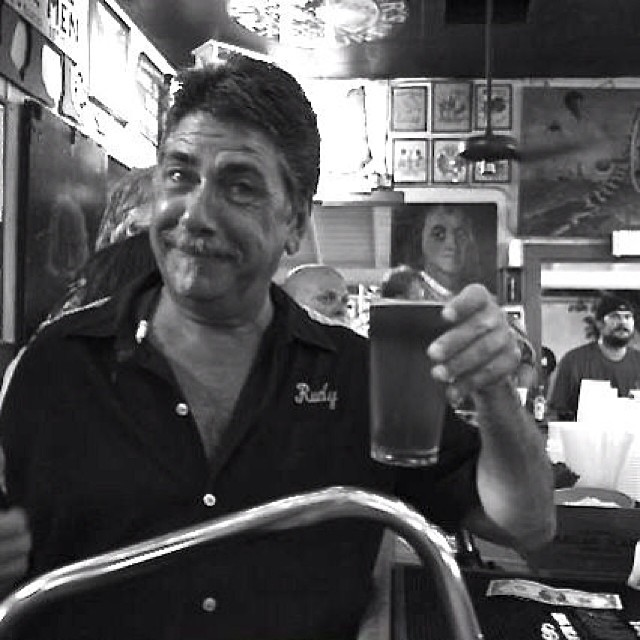 Rudy gives Session an unsolicited thumbs-up at last night release party