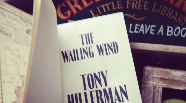 A new Tony Hillerman novel arrives in The Green Parrot Little Free Library