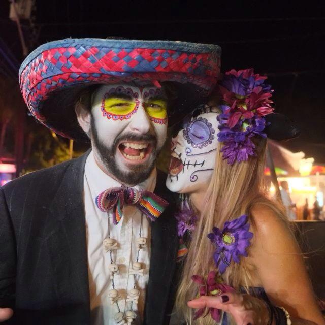 Zombie Siblings Arlo and Elana. #greenparrotbar #zombiebikeride #zombiefestkeywest