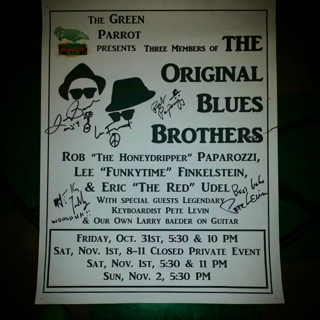 So then #this happened. I feel so lucky to have witnessed this. Living three blocks from @greenparrot is a real treat.  #bluesbrothers #greenparrotbar #keywest #305 #saltlife #blues