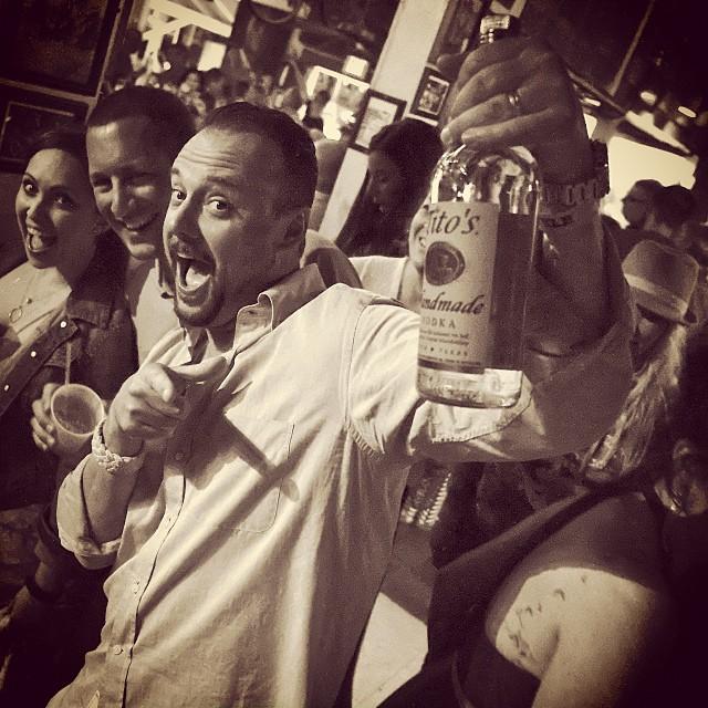 Last week's Tito's Vodka party