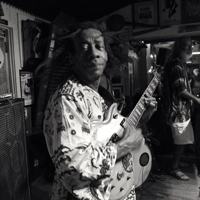 Van, at today's Bob Marley tribute.