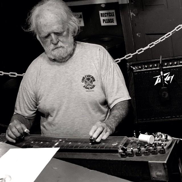 Chuck Sherman pedal steel Magnolia Cajun Band
