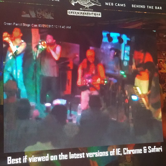 Watching my baby bro @quinncarson and #SpiritualRez performing LIVE at #GreenParrotBar in #KeyWest! Tune in or get there!! #apocalypsewhenever #reggae #funk #groove #doit #primalscream #trombone #littlebrother #quinno #minnow #sunsoutgunsout
