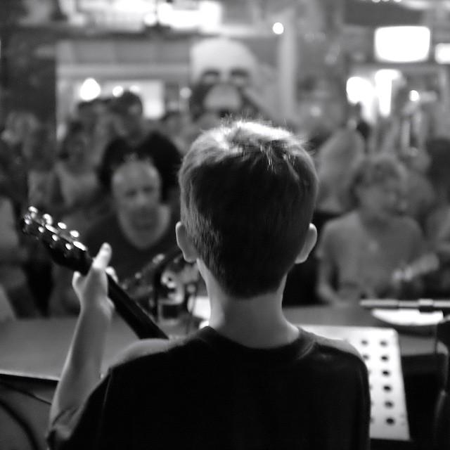 Young Elek from Baltimore tears it up at Uke night last week.#ukulelenight #ukulele #greenparrotbar