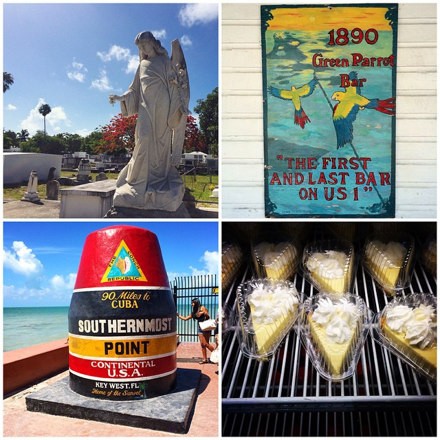Started off yesterday with a morning stroll through Key West Cemetery, a photo op at the Southernmost point buoy (only 90 miles to Cuba!), followed by a Rum Punch Brunch at Green Parrot Bar (I believe to be the oldest bar on an island of bars), and a piece of key lime pie from the award-winning Kermit's.