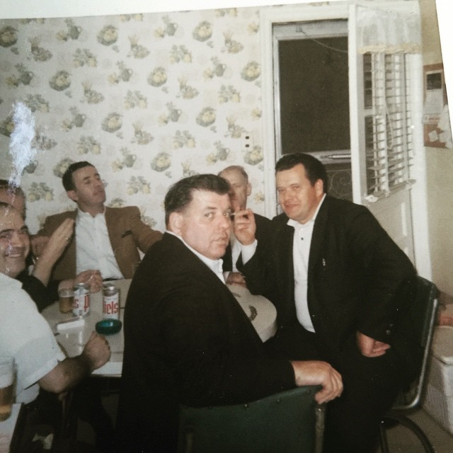 Looking through old photos for Fathers Day, this looks to be a Sunday afternoon Sharkey's Tavern bartenders meeting in our kitchen. That's my father Al on the far left edge if the frame. Looking at this photo I would venture to say at Sharkey's, when it was time for you to go, it was time to go.#greenparrotbar #fathersday #sharkeystavern #savefamilyphotos #bartenders