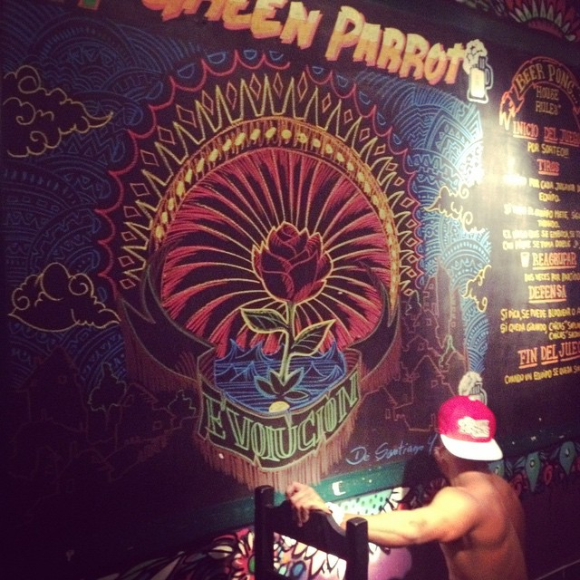 Obra final! #art #drawing #dibujos #gpbar #greenparrot #greenparrotbar #buenosaires #ar #graffiti #friend