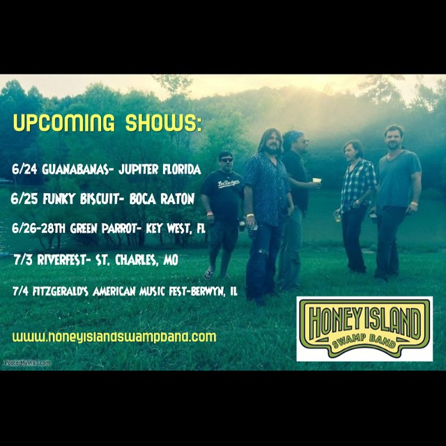 Hey Florida, we're coming for ya! Catch us at @guanabanasrestaurant on 6/24 @funkybiscuit on 6/25  And then we hit @greenparrotbar for 3 days of sun and funky music.  6/26-6/28  If you're in FLORIDA lets jam. #Florida #HISB #SwampMusic #Funk #NOLA #HISB #Music #SunshineState #KeyWest #JupiterFlorida #BocaRaton #Guanabanas #FunkyBiscuit #GreenParrotBar