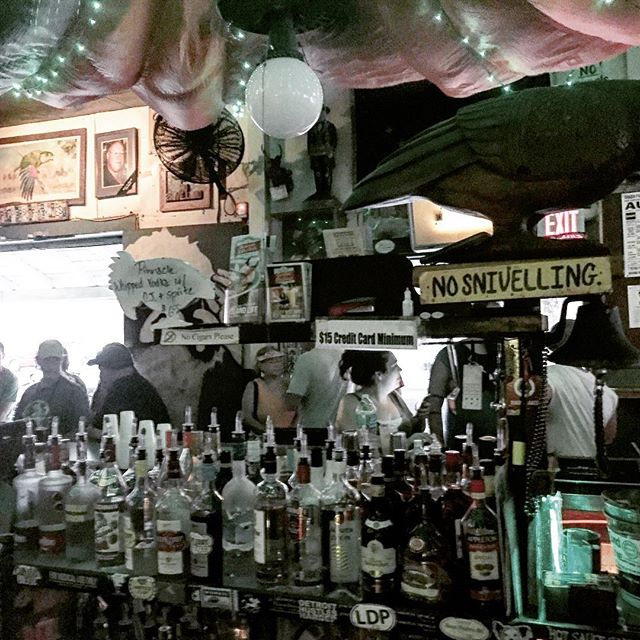 Rain coming down. My Monday with Joe. My favorite rainy afternoon bar. #destinationkeywest #summerstorms #greenparrotbar #nosnivelling