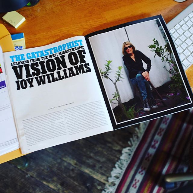 Joy Williams gets some great props here in the current  Sunday New York Times magazine: