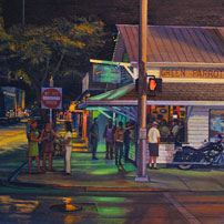 Painting of Green Parrot Bar in Key West