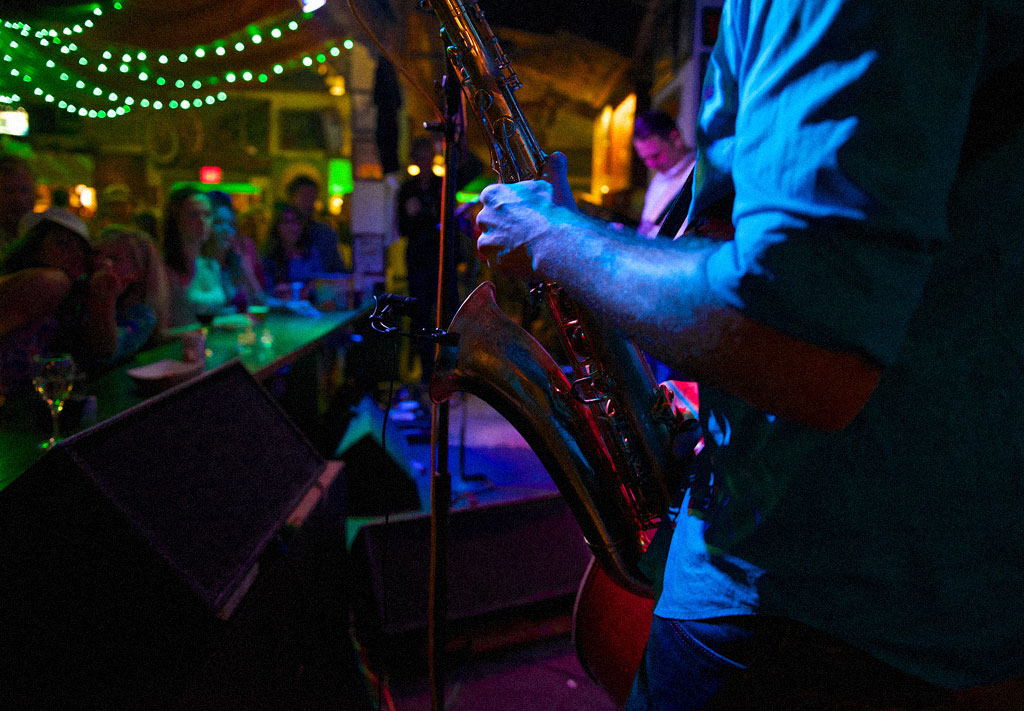 Photo of man playing saxophone