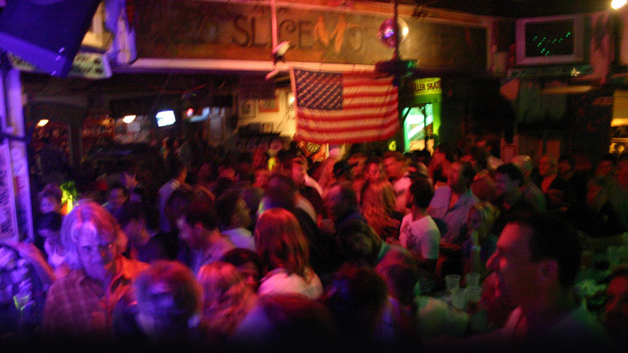 Photo of still webcam image of inside bar