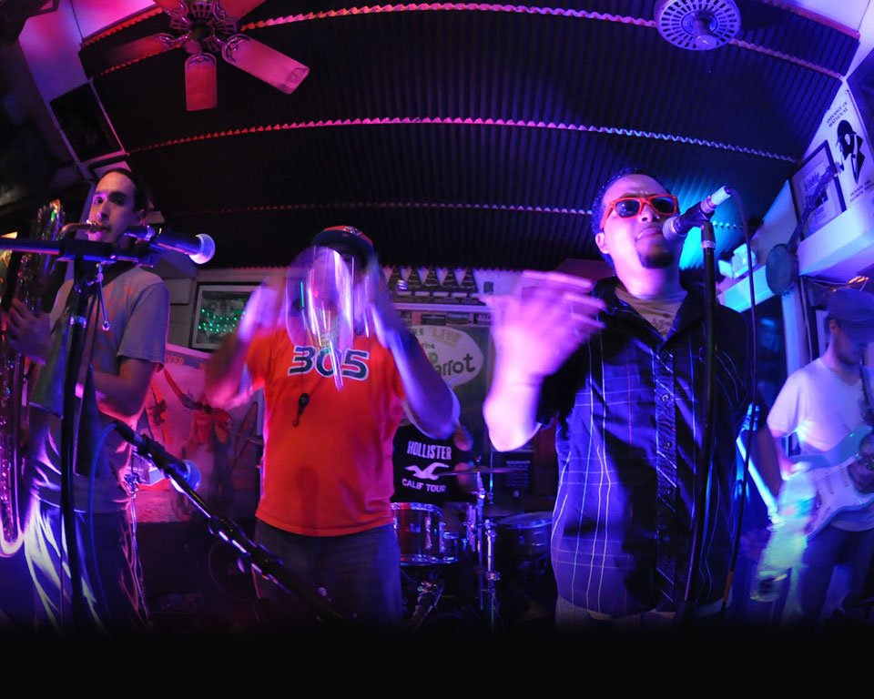 Photo of Miami salsa band on stage