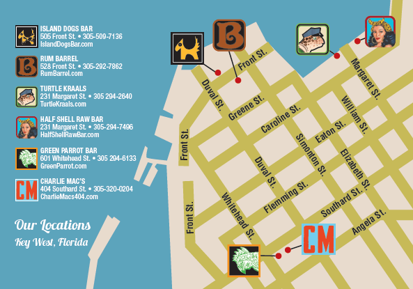 Image of Key West Cocktail Challenge Map