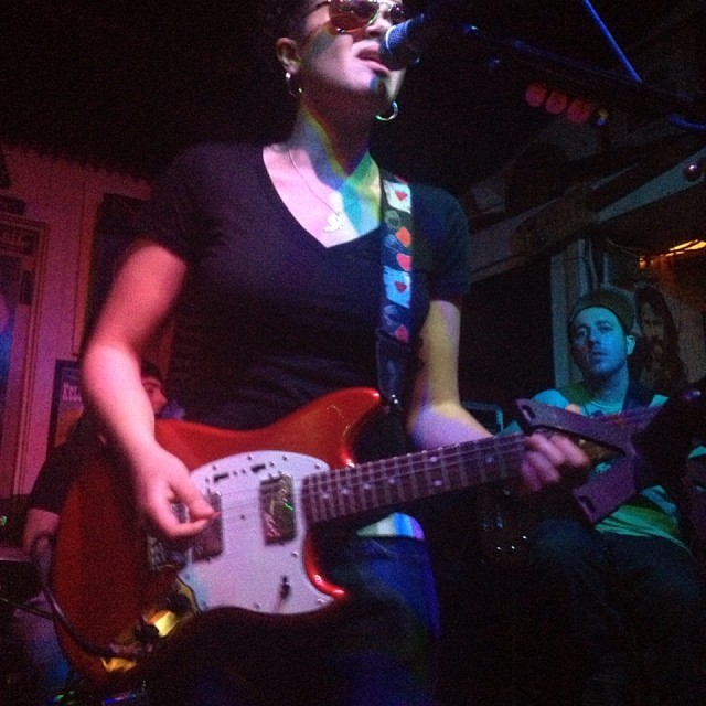 Rising star from New Orleans, Mia Borders at The Green Parrot last night.