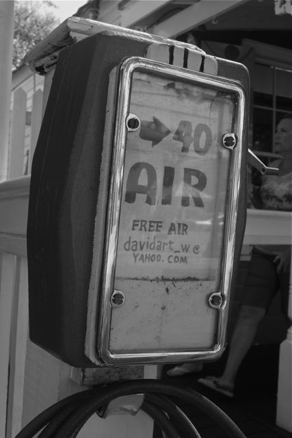 free air pump at The Green Parrot Bar in Key west