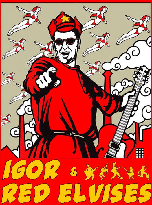 red elvises poster