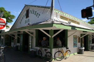 The front of the famous Green Parrot Bar