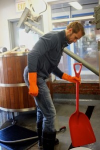 Jeff sorg in the trenches of the brewing process