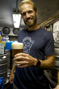 Jeff samples the first taste of Green Parrot Session Ale