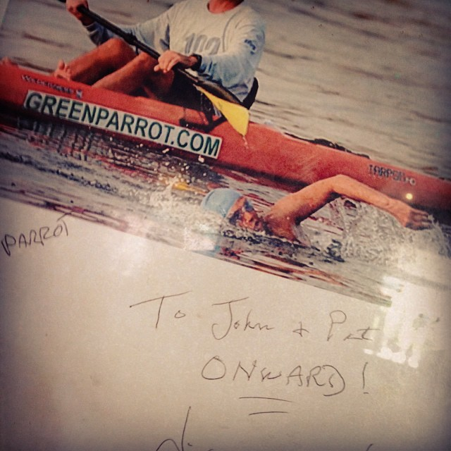 Diana, congratulations on the anniversary of your incredible achievement.  You taught us...Onward !!! We love you! #greenparrotbar #diananyad