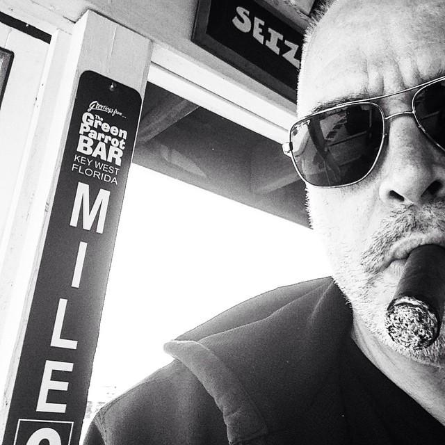 #keywest #greenparrot #greenparrotbar #milemarker0 #cigar #backporch