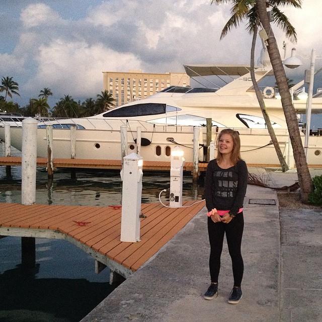 Marley dreaming big! #bahamas #paradiseisland #greenparrotbar
