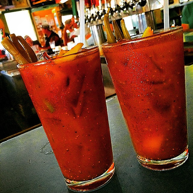 Breakfast beverage at the Green Parrot!!! They have the best Bloody Mary's in Key West!!! #drink #drinks #slurp #TagsForLikes #pub #bar #liquor #yum #yummy #thirst #thirsty #instagood #cocktail #cocktails #drinkup #glass #can #photooftheday #bloodymary #greenparrotbar #keywest #florida #partyanimal #wasted