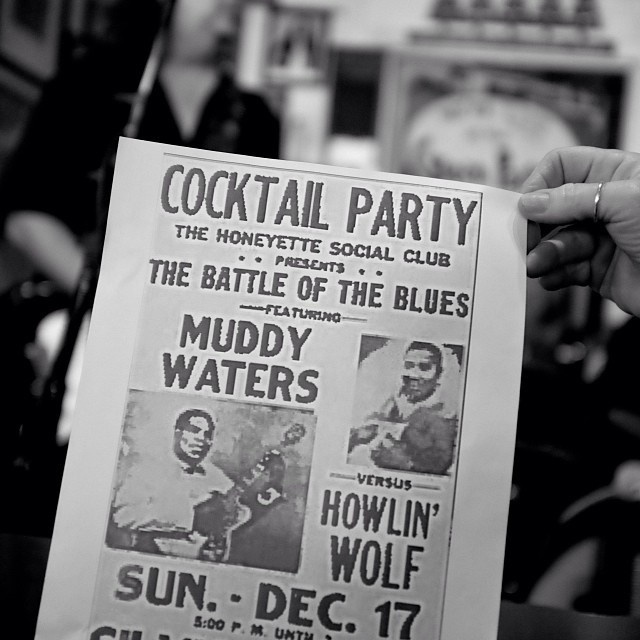Flyer someone brought to our Green Parrot Muddy Waters Birthday Tribute w/ Larry Baeder and Bull Blue. Happy Birthday, Muddy!