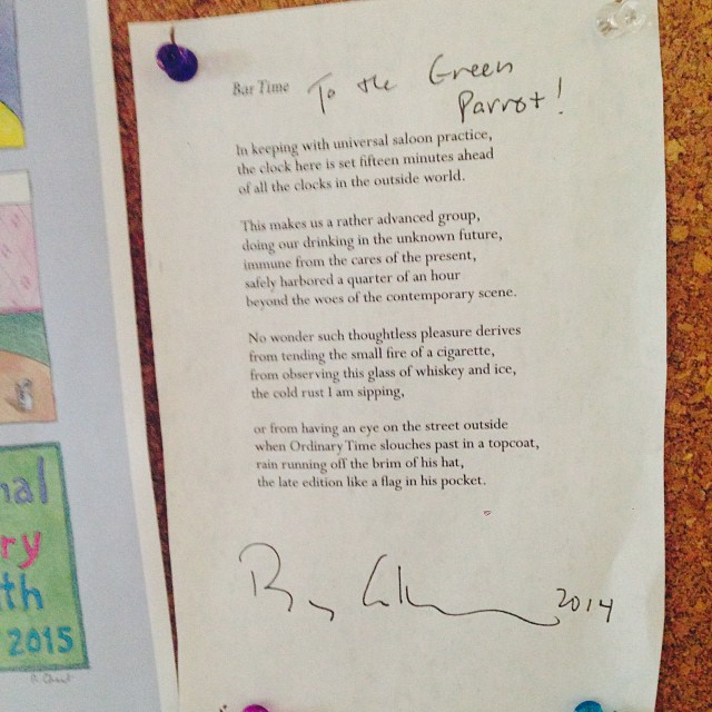 Billy Collins signed