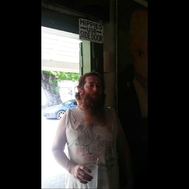 @hippie1981666 #latepost #keywest #greenparrotbar #nohippies #myman #myboo #beards