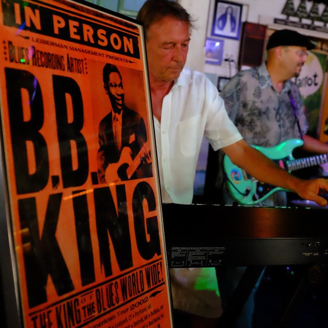 bb king poster at the green parrot