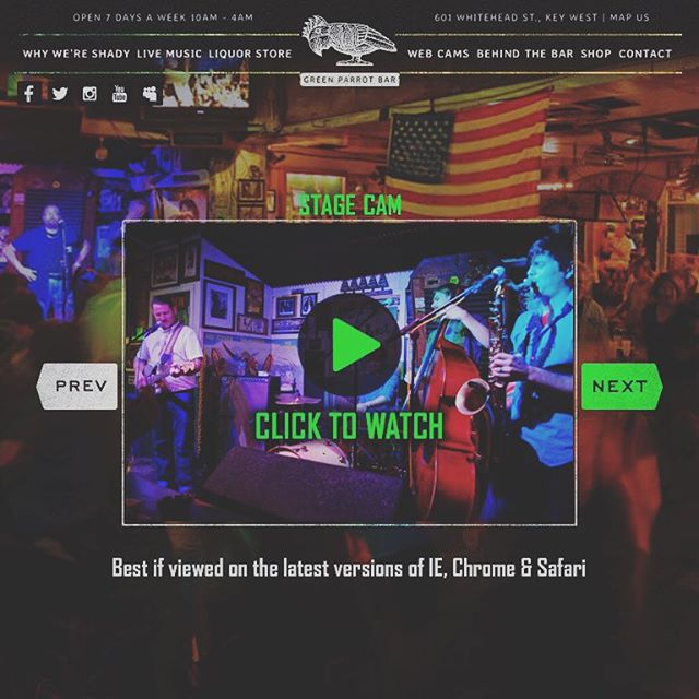 Watch us live tonight! 9pm #greenparrotbar #keywest #keywestlivemusic #patrickandtheswayzees  https://www.greenparrot.com/key-west-webcams/