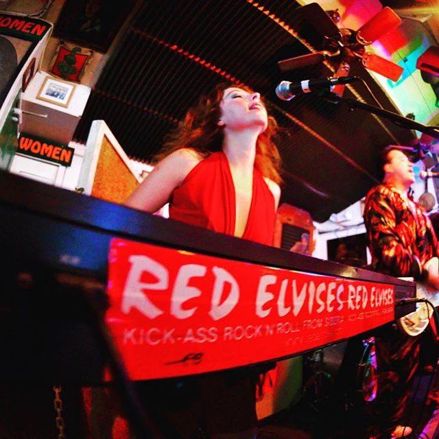 Red Elvises hit at 10 pm tonight! 5;30 and 10 Wednesday and Thursday.