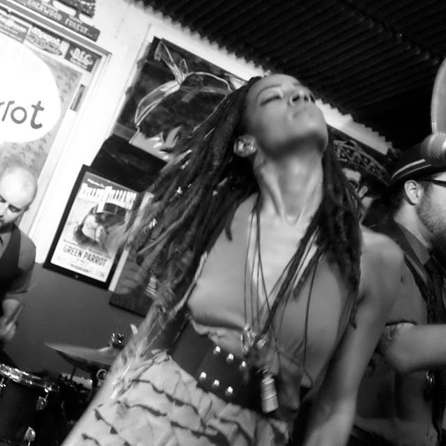 Sandra Love of The Dirty Bourbon River Show. #dirtybourbonrivershow #nola #sandralove #greenparrotsoundcheck #greenparrotbar #keywestmusic