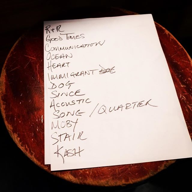 Set list from last year's show by Zoso, described as the