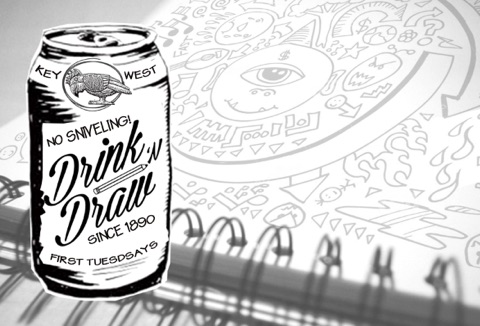 Green Parrot Drink and Draw Night