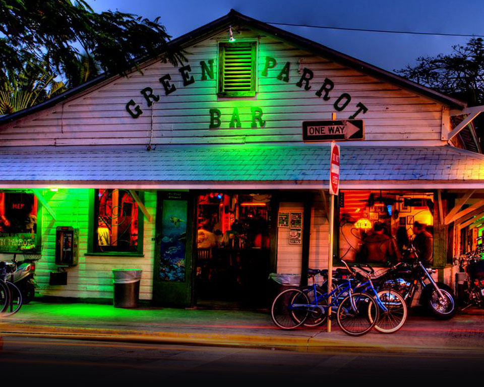Photo of the Green Parrot today as one of the best Key West bars
