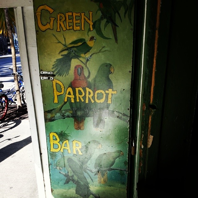 Where you'll likely find the Cook family in Key West. #KeyWest #GreenParrotBar