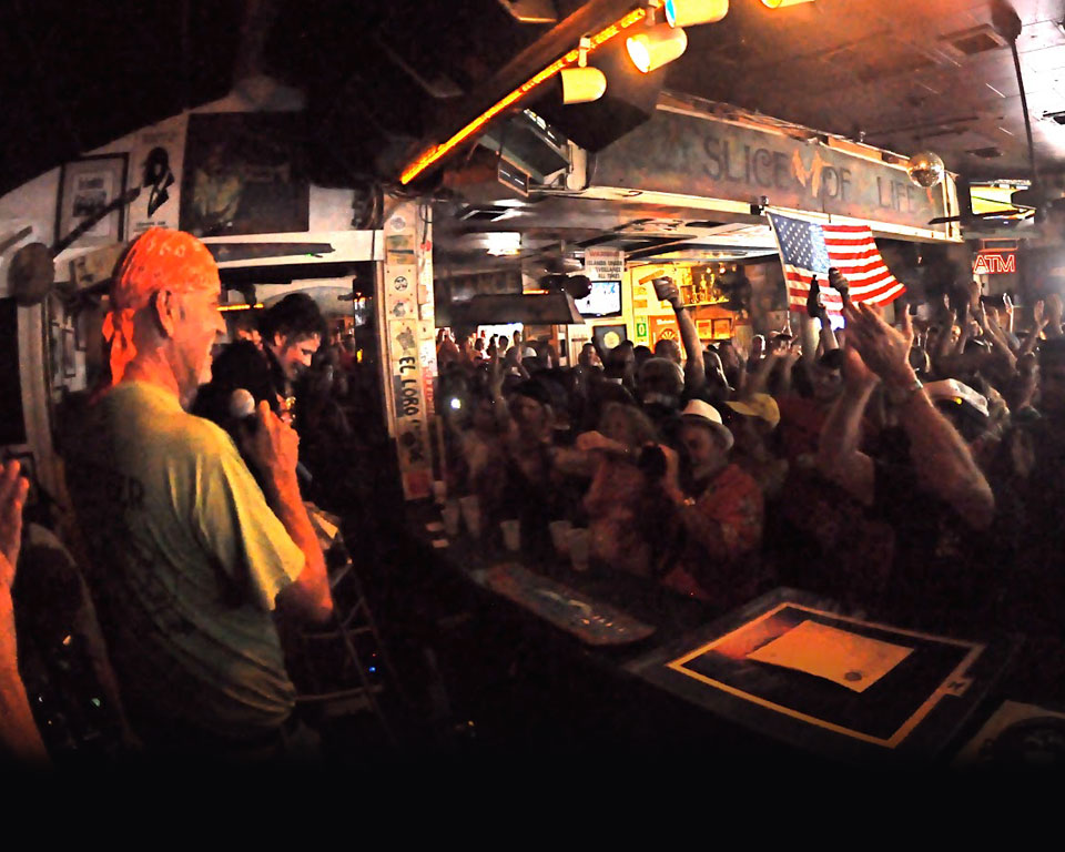 Photo of crowd during a show at Green Parrot